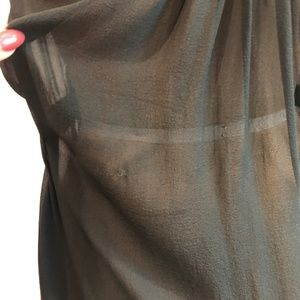 Dkny Tops - DKNY Sheer 100% Silk Chiffon Top